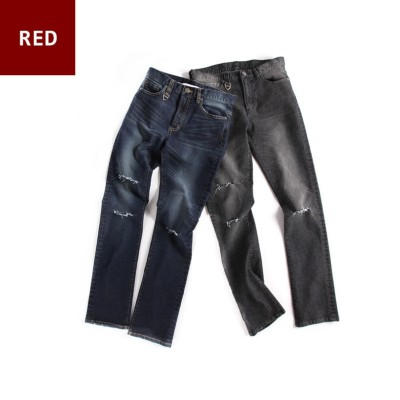 EL03水洗破壞丹寧褲 EL03 Washed Denim Pants